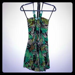 Sky halter jungle dress